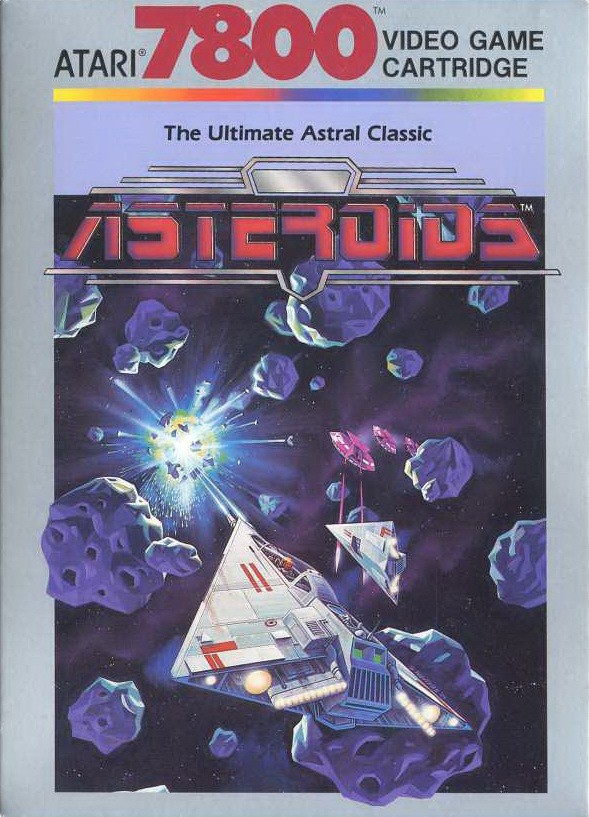 Front boxart of the game 3D Asteroids (United States) on Atari 7800