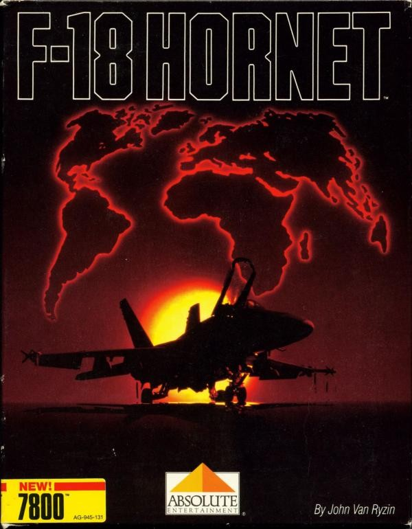 Front boxart of the game F-18 Hornet (United States) on Atari 7800
