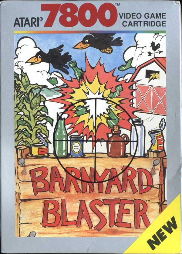 Front boxart of the game Barnyard Blaster (United States) on Atari 7800