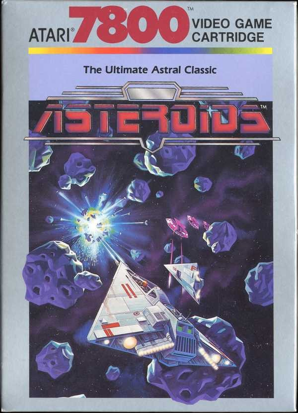 Front boxart of the game Asteroids (United States) on Atari 7800