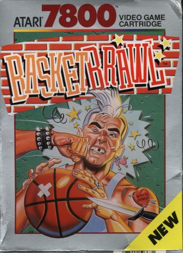 Front boxart of the game Basketbrawl (United States) on Atari 7800