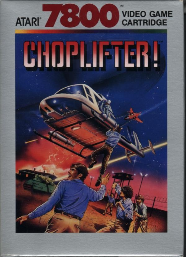 Front boxart of the game Choplifter (United States) on Atari 7800