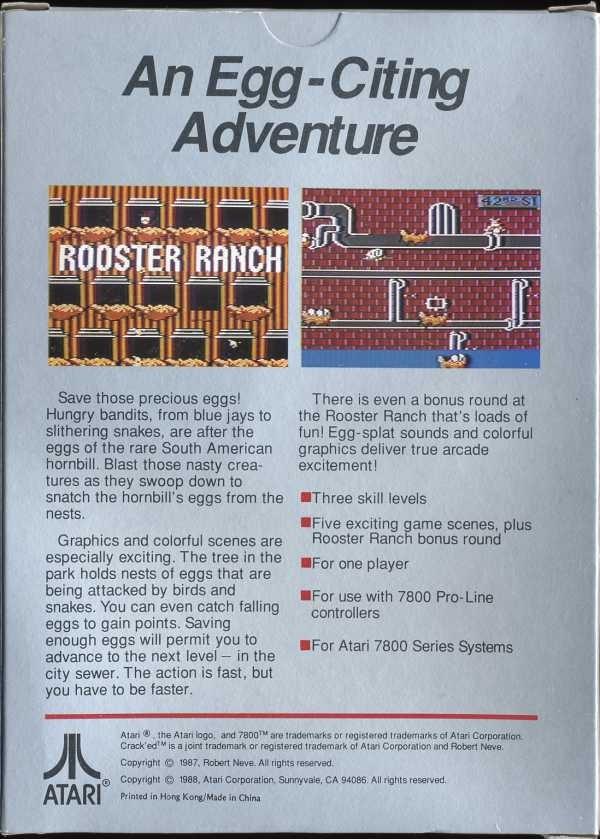 Back boxart of the game Crack'ed (United States) on Atari 7800