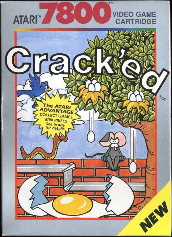 Front boxart of the game Crack'ed (United States) on Atari 7800