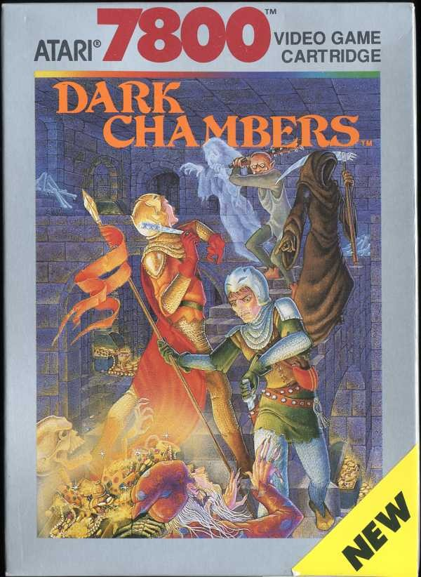 Front boxart of the game Dark Chambers (United States) on Atari 7800