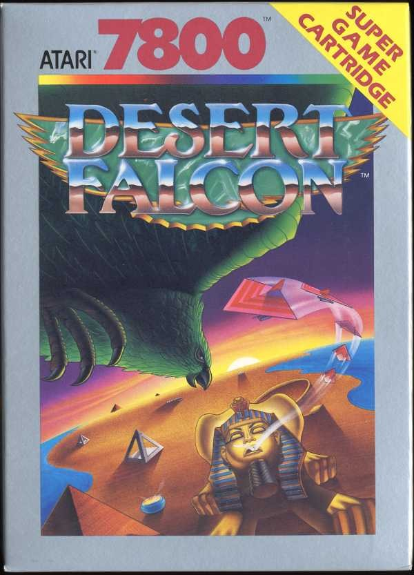 Front boxart of the game Desert Falcon (United States) on Atari 7800