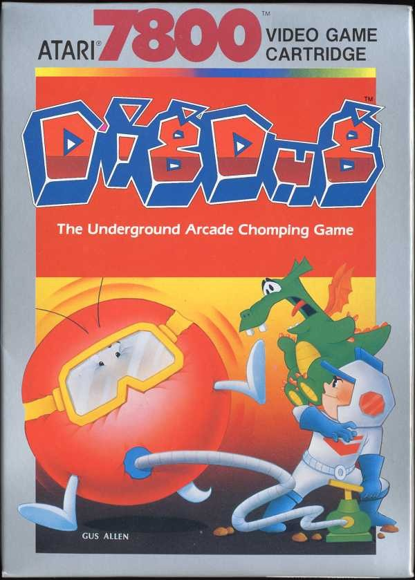 Front boxart of the game Dig Dug (United States) on Atari 7800