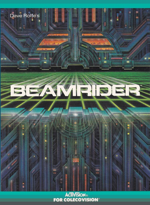Front boxart of the game Beamrider (United States) on Coleco Industries Colecovision