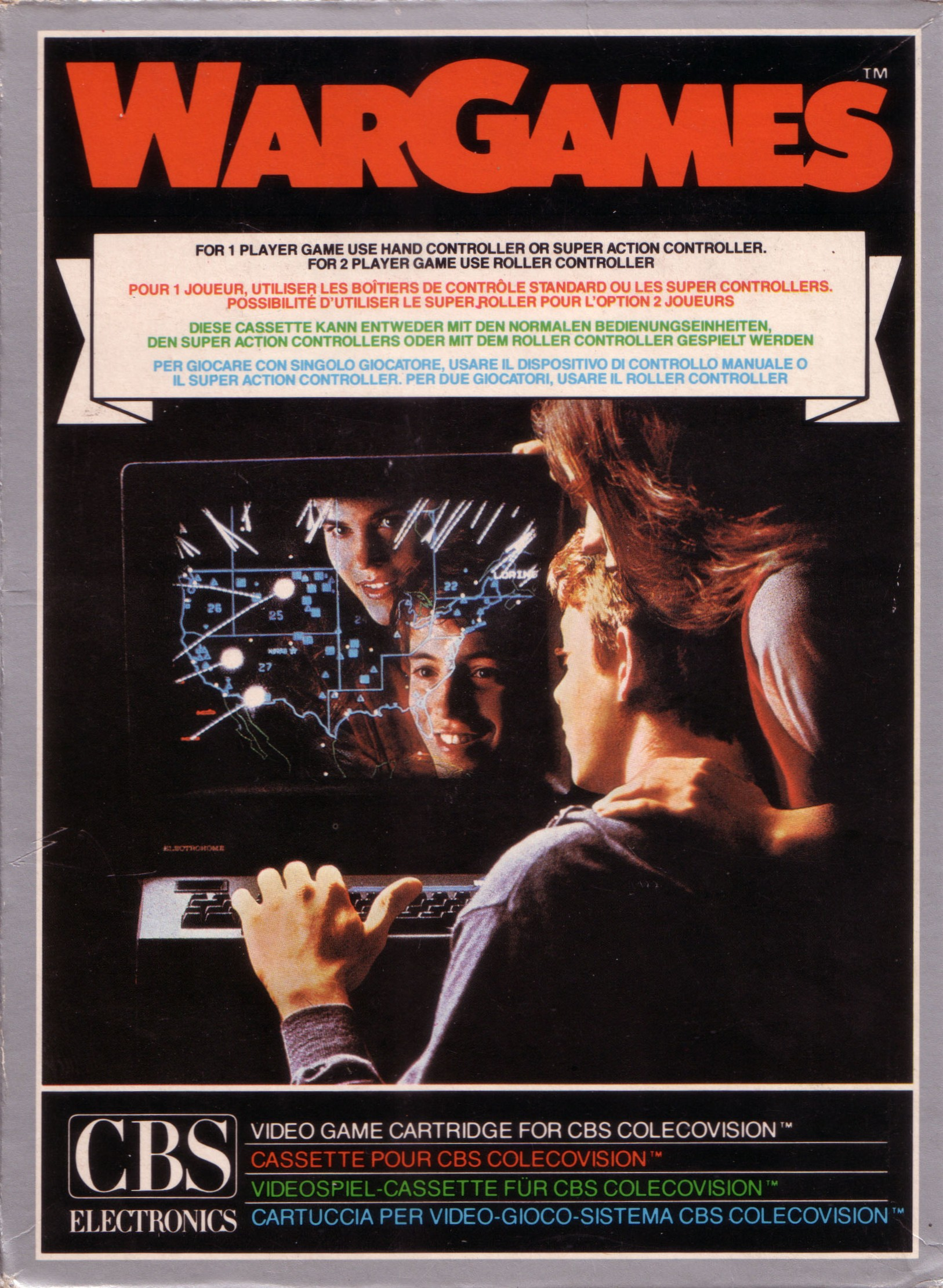 Front boxart of the game War Games (Europe) on Coleco Industries Colecovision