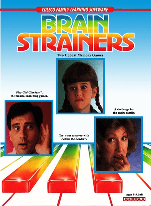 Front boxart of the game Brain Strainers (United States) on Coleco Industries Colecovision