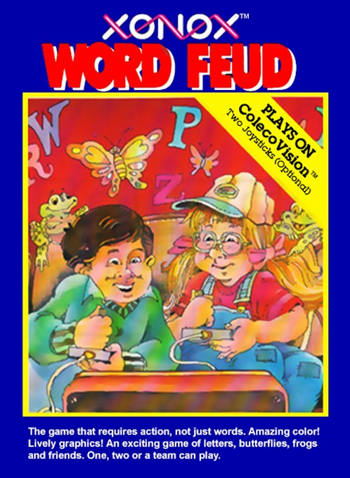 Front boxart of the game Word Feud (United States) on Coleco Industries Colecovision