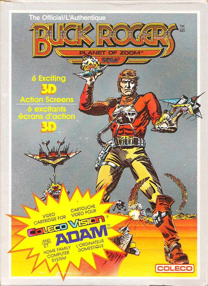 Front boxart of the game Buck Rogers - Planet of Zoom (United States) on Coleco Industries Colecovision