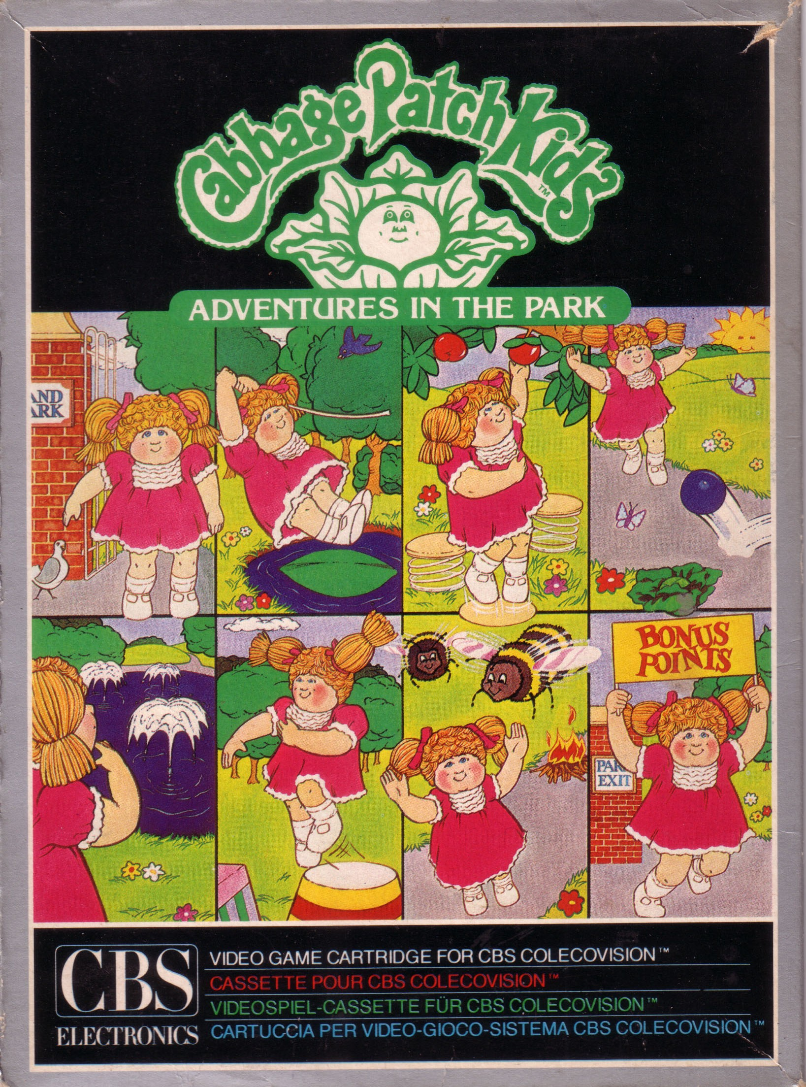 Front boxart of the game Cabbage Patch Kids - Adventures in the Park (Europe) on Coleco Industries Colecovision