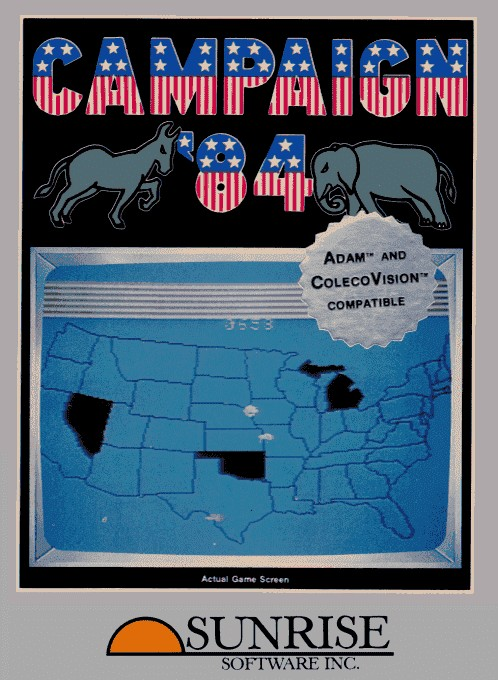 Front boxart of the game Campaign '84 (United States) on Coleco Industries Colecovision