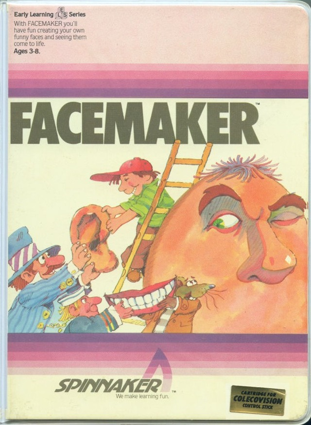 Front boxart of the game Facemaker (United States) on Coleco Industries Colecovision