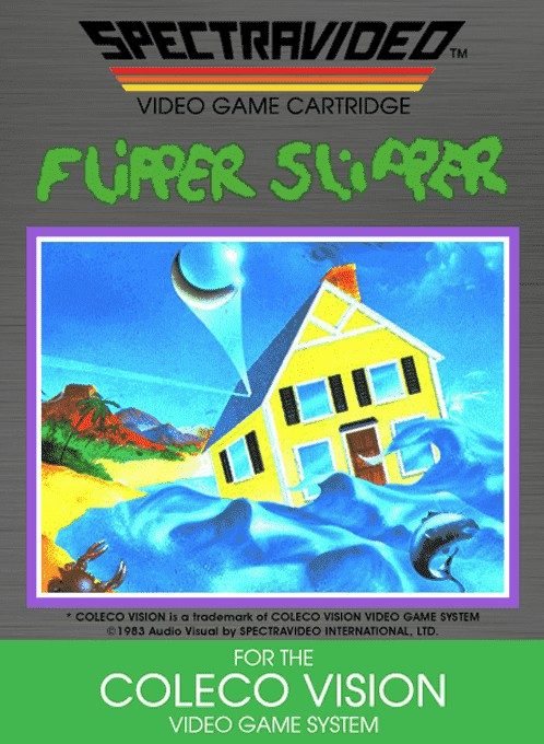 Front boxart of the game Flipper Slipper (United States) on Coleco Industries Colecovision