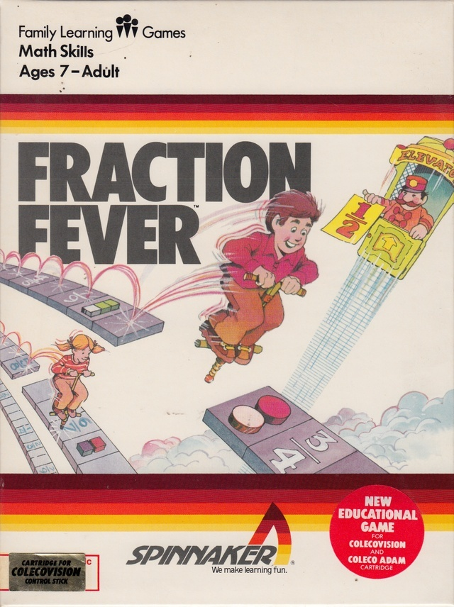 Front boxart of the game Fraction Fever (United States) on Coleco Industries Colecovision