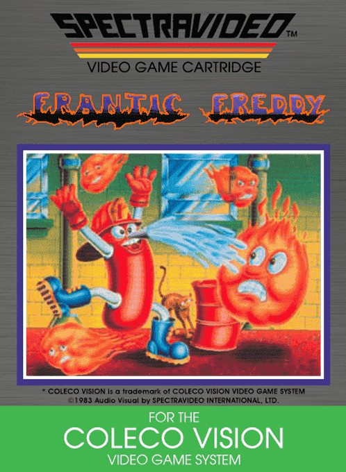 Front boxart of the game Frantic Freddy (United States) on Coleco Industries Colecovision