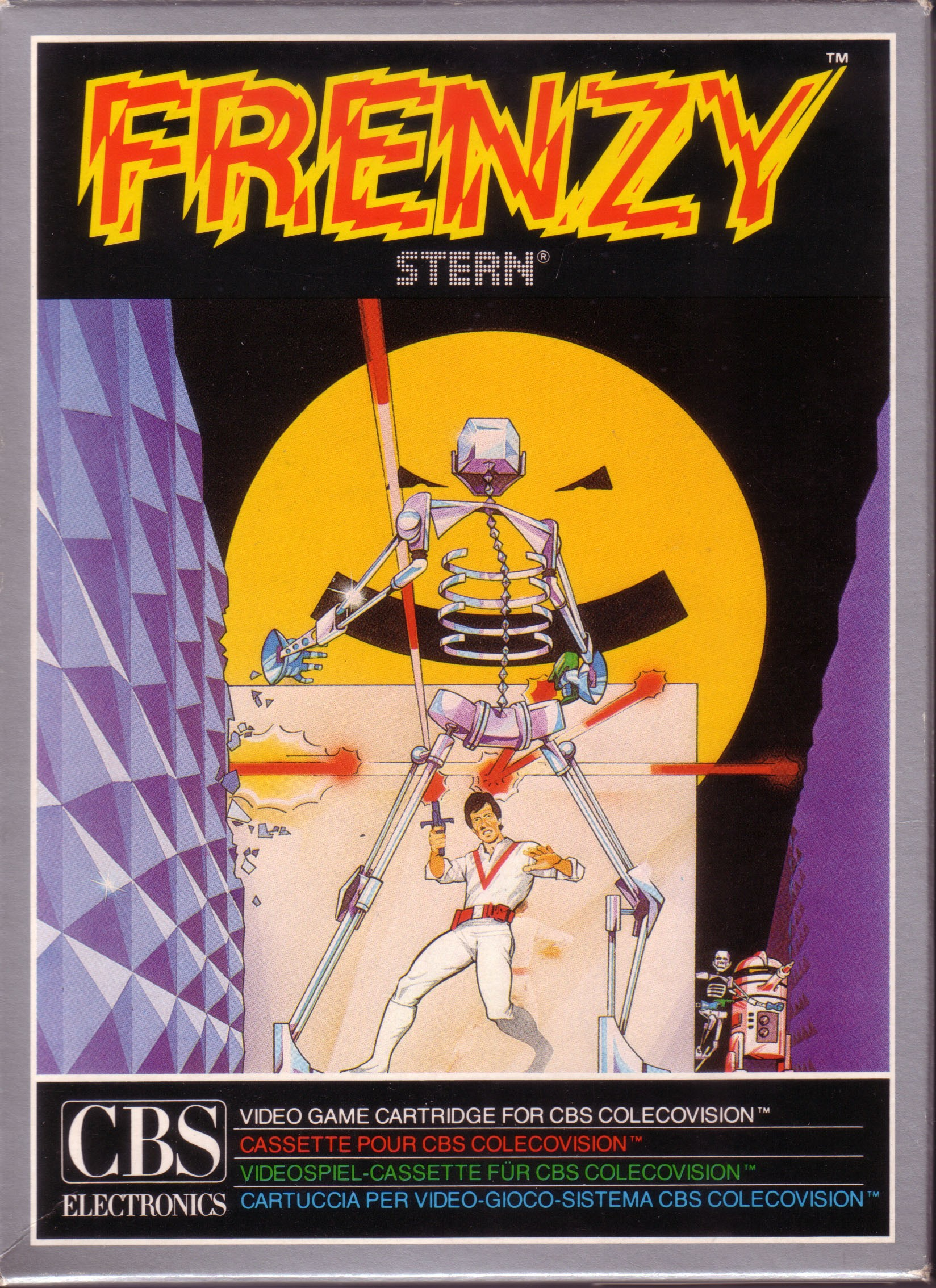 Front boxart of the game Frenzy! (Europe) on Coleco Industries Colecovision