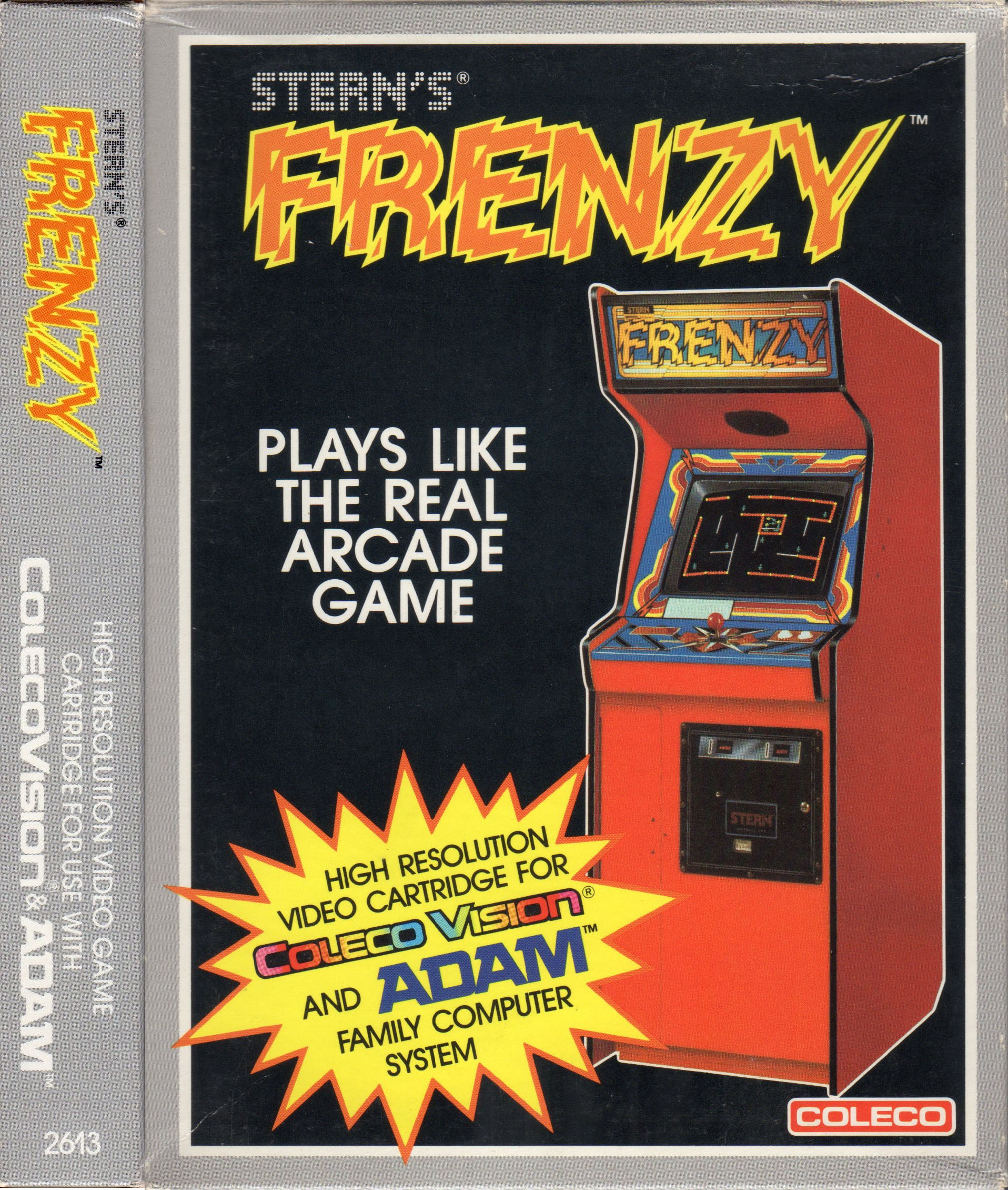 Front boxart of the game Frenzy! (United States) on Coleco Industries Colecovision