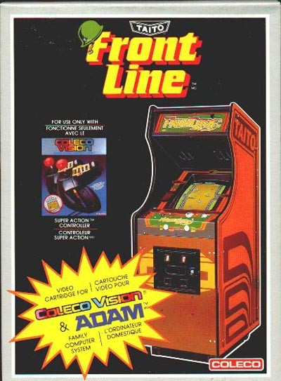 Front boxart of the game Frontline (Canada) on Coleco Industries Colecovision