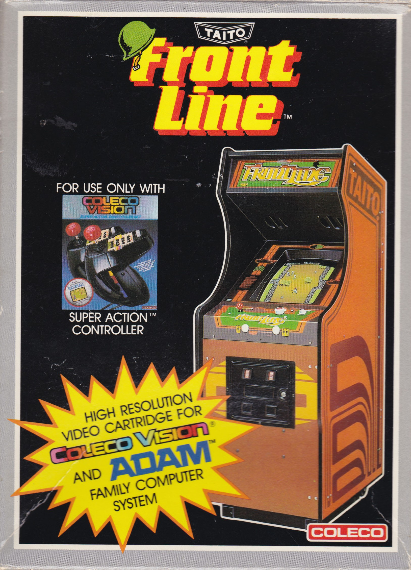 Front boxart of the game Frontline (United States) on Coleco Industries Colecovision
