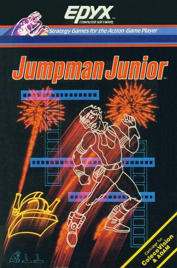 Front boxart of the game Jumpman Junior (United States) on Coleco Industries Colecovision