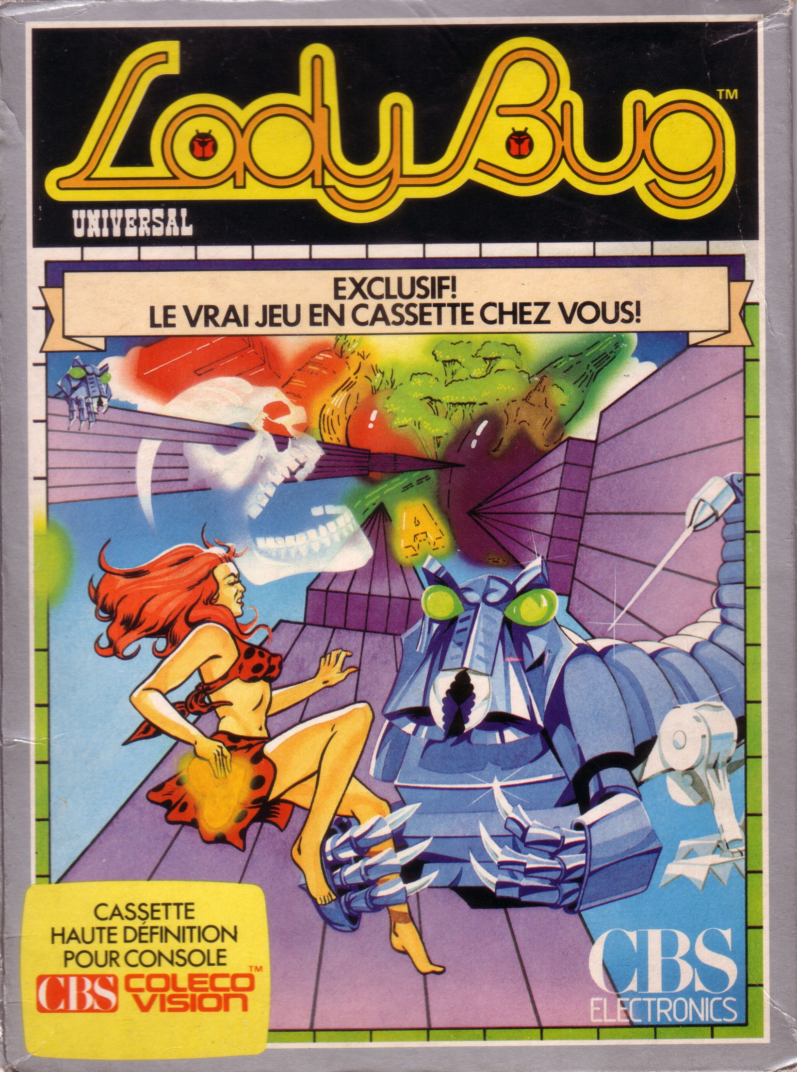 Front boxart of the game Lady Bug (France) on Coleco Industries Colecovision