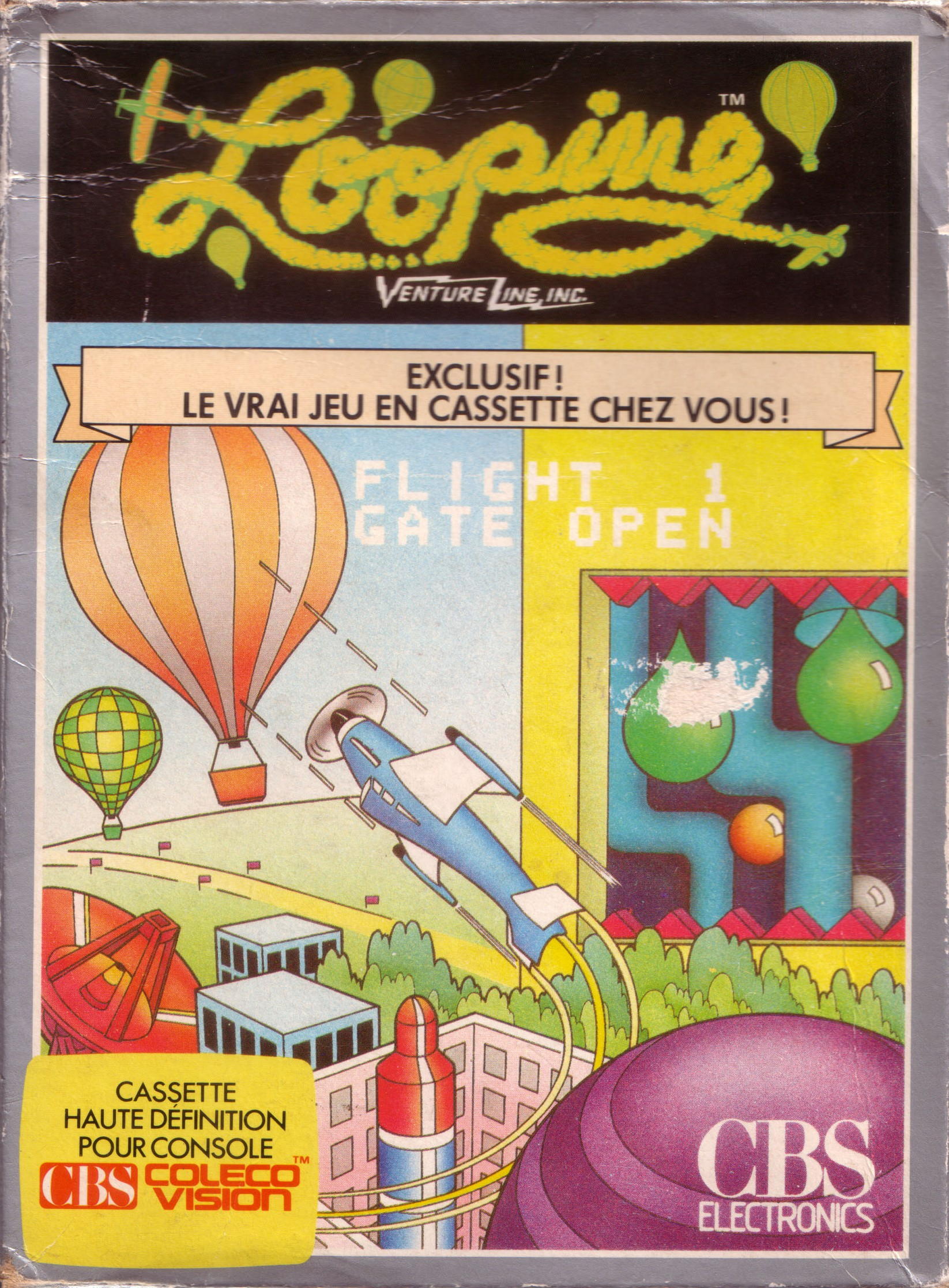 Front boxart of the game Looping (France) on Coleco Industries Colecovision
