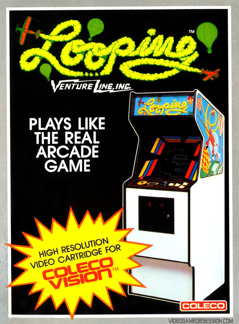 Front boxart of the game Looping (United States) on Coleco Industries Colecovision
