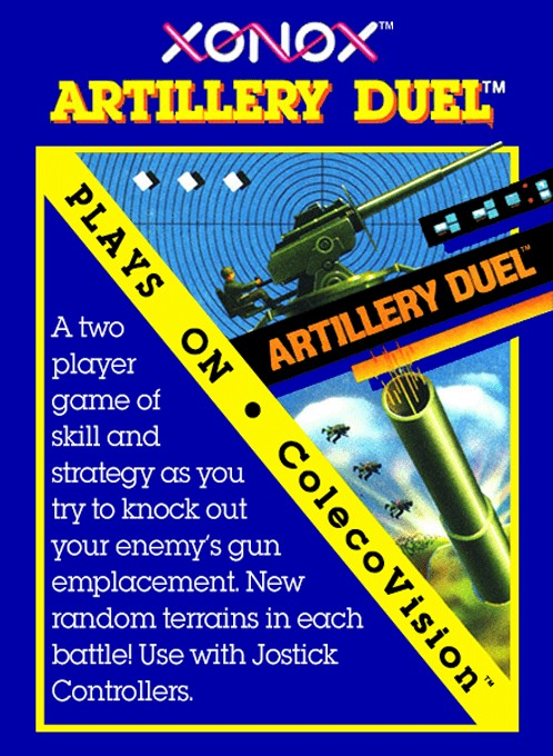 Front boxart of the game Artillery Duel (United States) on Coleco Industries Colecovision