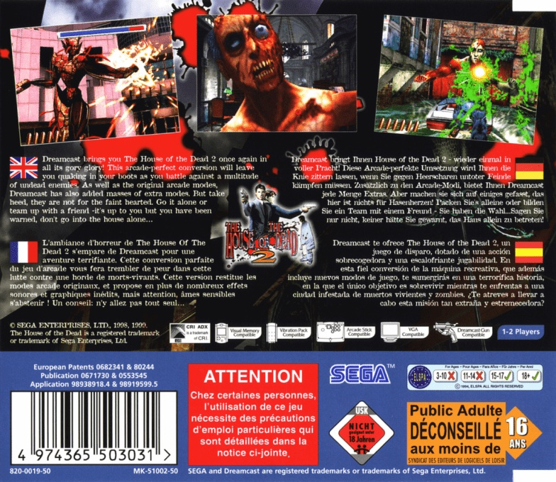 House of the Dead 2, The boxarts for Sega Dreamcast - The Video