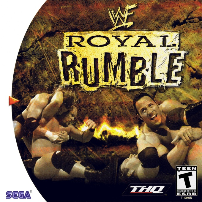 Front boxart of the game WWF Royal Rumble (United States) on Sega Dreamcast