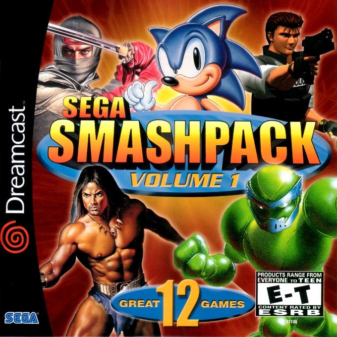 Front boxart of the game Sega Smash Pack - Volume 1 (United States) on Sega Dreamcast