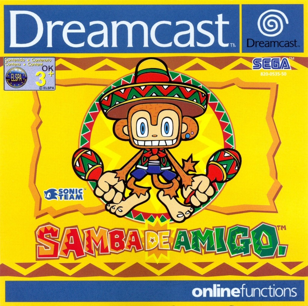 Front boxart of the game Samba de Amigo (Europe) on Sega Dreamcast