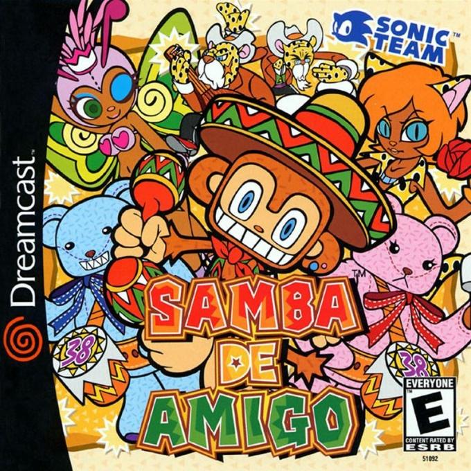 Front boxart of the game Samba De Amigo (United States) on Sega Dreamcast