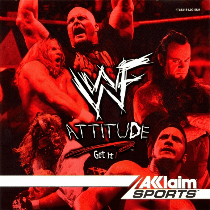 Front boxart of the game WWF Attitude (Europe) on Sega Dreamcast