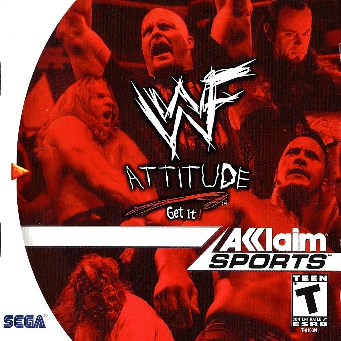 Front boxart of the game WWF Attitude (United States) on Sega Dreamcast