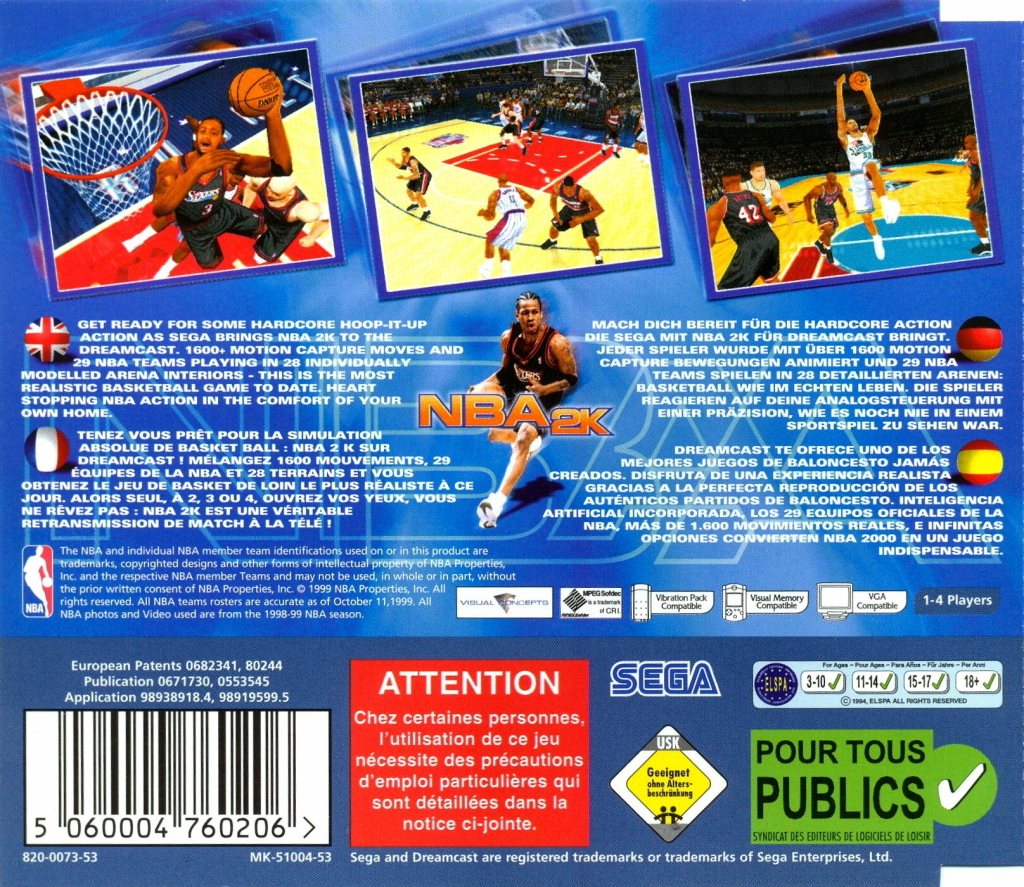 sega dreamcast basketball games