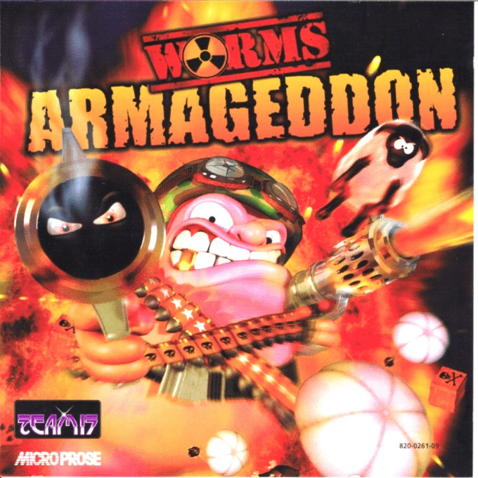 Front boxart of the game Worms Armageddon (France) on Sega Dreamcast