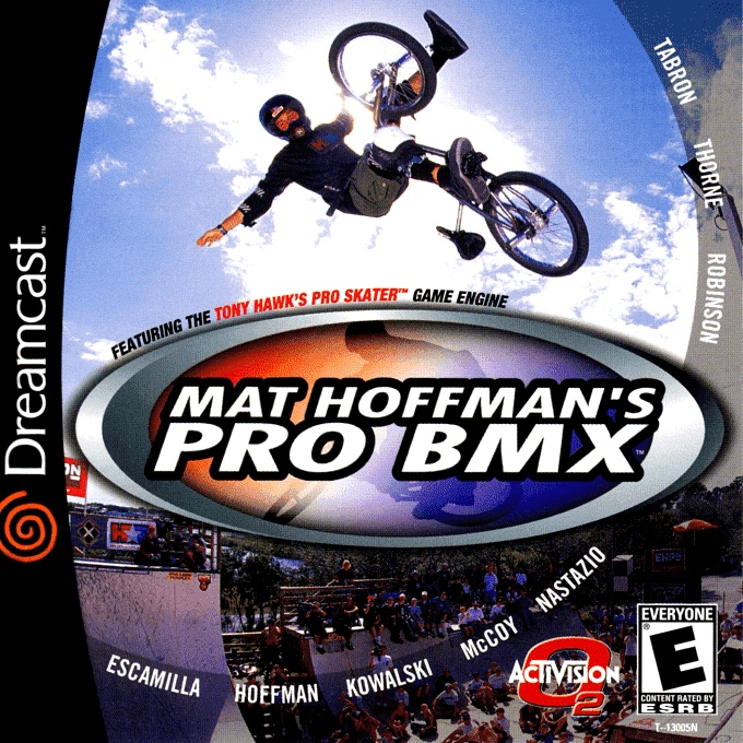 Front boxart of the game Mat Hoffman's Pro BMX (United States) on Sega Dreamcast