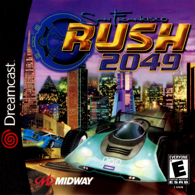 Front boxart of the game San Francisco RUSH 2049 (United States) on Sega Dreamcast