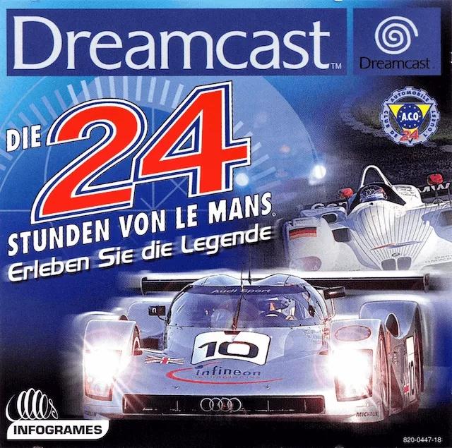 Front boxart of the game Die 24 Stunden von Le Mans (Germany) on Sega Dreamcast