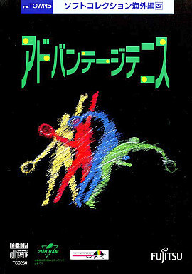 Front boxart of the game Advantage Tennis (Japan) on Fujitsu FM Towns