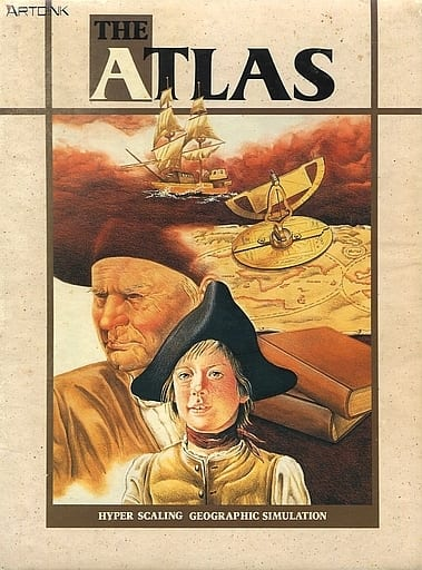 Front boxart of the game Atlas, The (Japan) on Fujitsu FM Towns