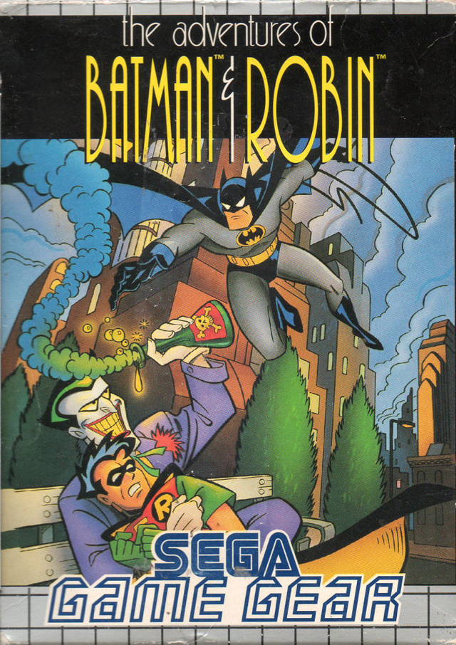 Front boxart of the game Adventures of Batman & Robin, The (Europe) on Sega Game Gear
