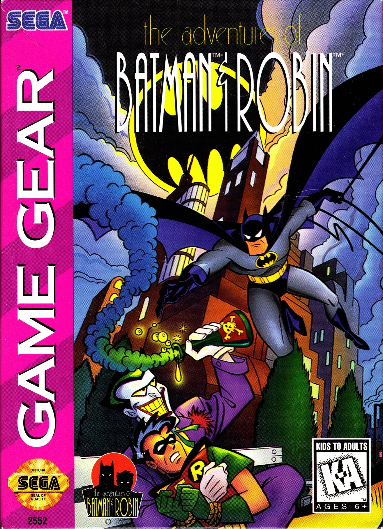 Front boxart of the game Adventures of Batman & Robin, The (United States) on Sega Game Gear