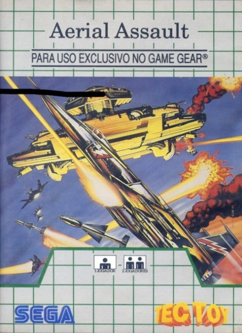 Front boxart of the game Aerial Assault (Brazil) on Sega Game Gear