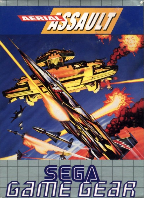 Front boxart of the game Aerial Assault (Europe) on Sega Game Gear