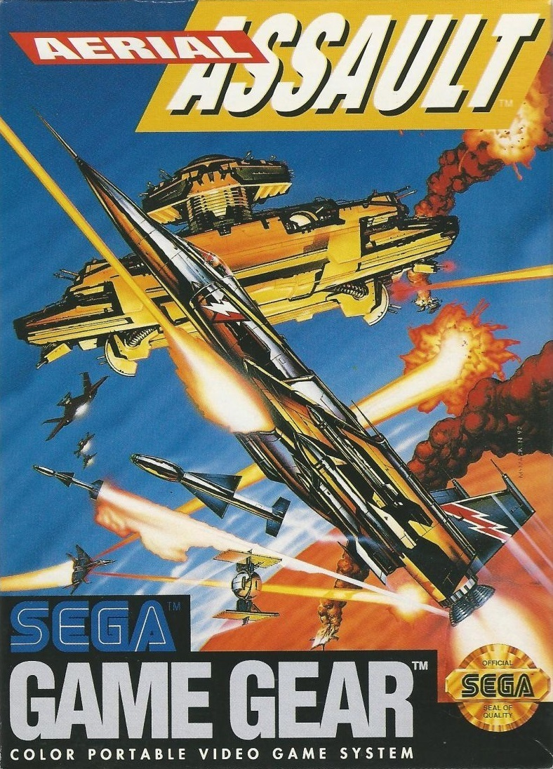 Front boxart of the game Aerial Assault (United States) on Sega Game Gear